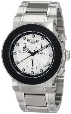 Invicta Mens 1463 Reserve Collection Chronograph Silver Dial Stainless Steel Watch * Click on the image for additional details.