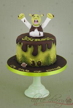 Shrek Cake - by littlecherry @ CakesDecor.com - cake decorating website