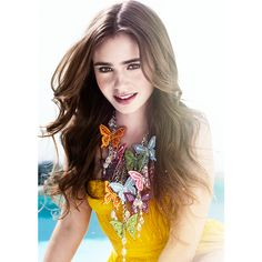 Lily Collins ❤ liked on Polyvore featuring lily collins