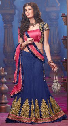 Tantalizing Mystic Blue #Lehenga #Choli