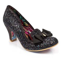 aaa648d2edbe Dance the night away in our magical slipper style mid heels featuring  glitter uppers with metallic