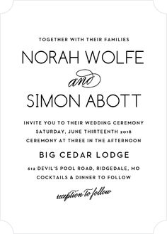 """The Deco Type <a class=""""crosslink"""" href=""""https://www.basicinvite.com/wedding/wedding-invitations.html"""" target=""""_self"""" alt=""""Custom Wedding Invitions"""" title=""""Custom Wedding Invitions"""">Wedding Invitations</a> chic use of typography and its Art Deco influences make it a sumptuous card sure to impress your guests. With clean lines and a tasteful use of whitespace, these cards achieve opulence without the fuss. And, as always, you can customize this card by color and font to perfectly coordinate…"""