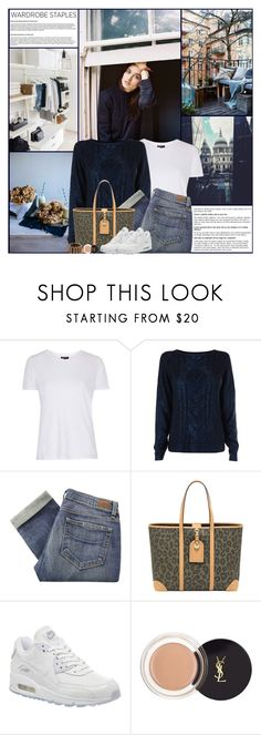 """Wardrobe Staples:Cosy Jumper"" by kittyfantastica ❤ liked on Polyvore featuring Topshop, Oasis, Paige Denim, Mulberry, NIKE, Yves Saint Laurent and Marc by Marc Jacobs"