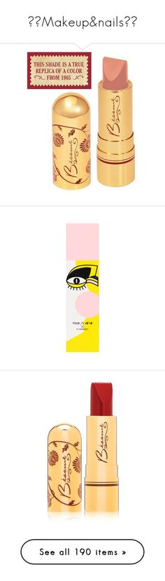 """▪️Makeup&nails▪️"" by metzeri0899 ❤ liked on Polyvore featuring beauty products, makeup, lip makeup, lipstick, flower lipstick, makeup tools, makeup brushes, blush brush, blush makeup brush and mac cosmetics"