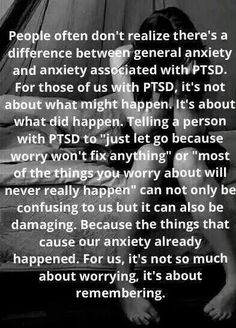 "PTSD  anxiety can be from past ""healthcare"" treatments that felt like torture at the time."