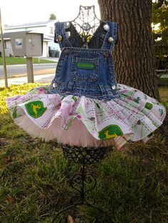 John Deere Overall Tutu by BabyFetch on Etsy, $30.00... So cute for her first birthday! @Amy Lyons Lyons Lyons alder!!!