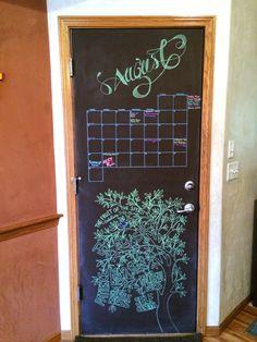August 2014 Chalkboard Calendar