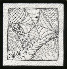Check out the little zentangle quilts. Really a great way to practice freestyle machine quilting.