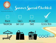 Have you made your Summer Special Checklist yet?  Make your summer vacations all the more fun, go for #CoolTech at #ISAAC For more information, book an appointment today!  www.isaac-wellness.com | Ph- 9958874494
