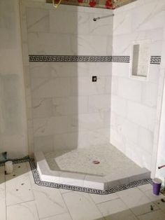 Calacatta Tile From Loweu0027s   Bathroom Floor And Shower Floor U0026 Walls.