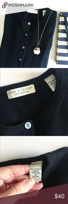Lord & Taylor 100% Cashmere Black Sweater Cardigan 100% CASHMERE! This solid black cardigan is GORGEOUS! 😍 Long-sleeved, button up, and oh so soft! This piece is in excellent condition!! A must-have wardrobe staple! Lord & Taylor Sweaters Cardigans