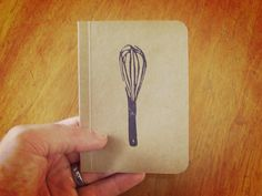Kitchen Whisk Pocket Notebook Mini Notebook and Jotter by SlimNote, $4.00