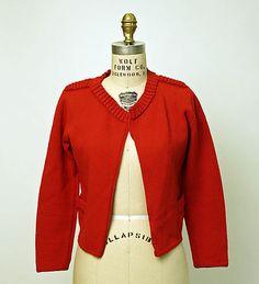 Sweater.  Elsa Schiaparelli (Italian, 1890–1973).  Date: 1935–36. Culture: French. Medium: wool. Dimensions: Length at CB: 18 3/4 in. (47.6 cm).