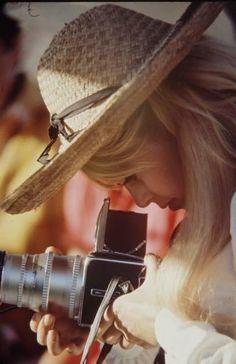 Brigitte Bardot behind the lens.