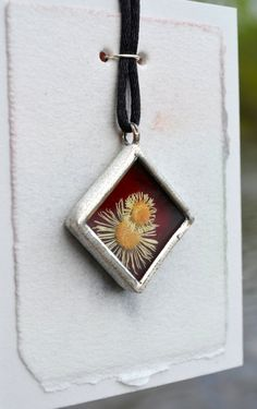 You've got to see my friend Tina's  beautiful Dried Flower Jewelry Ruby Red Stained Glass by BayouGlassArts,