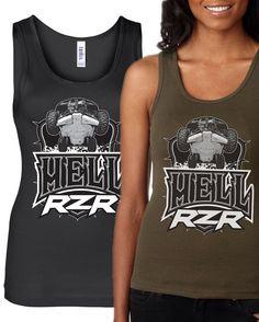 a5e7c07bb6788 RZR tribute shirt HELL RZR Tank by society13 on Etsy Cute Shirt Sayings
