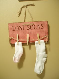 Craft for any Laundress: boards, permanent marker or paint pins, twine and clip style clothes pins