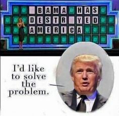 Trump Solving the Puzzle on Wheel of Fortune http://ift.tt/2gVTBXa