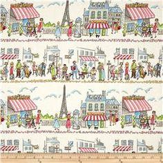 Michael Miller Essentials Paris Ville Multi