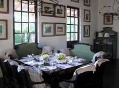 LOVE this table with combination of chairs and benches.  Spend the Night with Latin America's Most Famous Chef : Remodelista