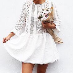 White Lace Dress #Spring http://www.videdressing.us/women/clothing/c-c5989.html#uc/c-c5989-f4811_4814-f6371_6378-f7053_7041_7039_7538-n180-o1.json