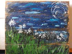 daisies at night