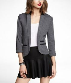 Shop women's coats and jackets at Express, including denim jackets, faux leather jackets, blazers more. Take your look to the next level with a chic coat or a trendy trench! Knit Blazer, Blazer Suit, Suit Jacket, Got The Look, Blazers For Women, Jacket Style, Style Guides, Casual Looks, Chic