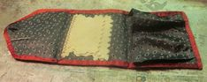antique 19th c AAFA sewing roll-up housewife needle case 1800s | #1878239032 Needle Case, Darning, Red Silk, Silk Ribbon, Housewife, Hand Stitching, Rolls, Sewing, Antiques
