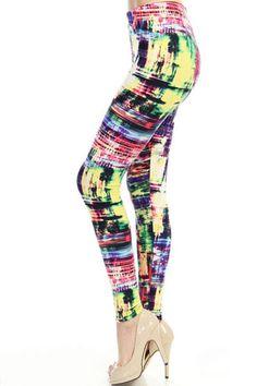 Technicolor dream WL-176 – Mayberrys Funky Leggings, Pants, Style, Fashion, Moda, Trousers, Stylus, Women Pants, Fasion
