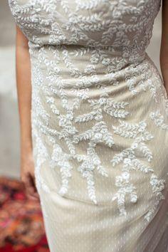 Brautkleid Enedin Seide, Wedding dress Silk, floral style