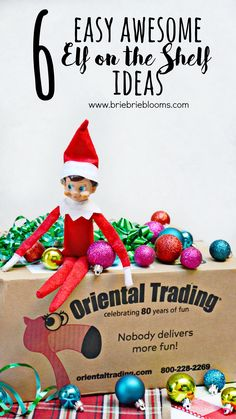 Watch in joy as your child discover's elf magic with these six easy Elf on the Shelf ideas from @orientaltrading. #orientaltrading #elfontheshelf #ad