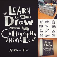 With just a few strokes of his calligraphy pen, illustrator Andrew Fox creates everything from animals and insects to people and robots—figures that seem bristling with personality despite their simplicity. We explored Fox's work here on Colossal last year, and if you're tempted to