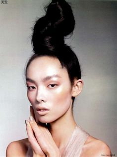 Super-Tall Top Knots - Fei Fei Sun Gets An A for 'High Knots Classroom' in Vogue China (GALLERY)
