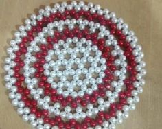 Beaded Crafts, Beaded Ornaments, Bead Bowl, Easy Flower Drawings, Beaded Boxes, Beaded Jewelry Patterns, Bead Jewellery, Craft Work, Bead Art