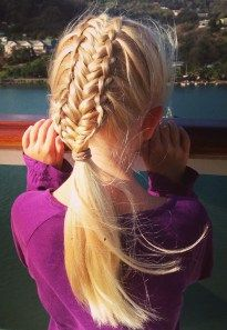 french feather braids into a fishtail braid.  See more on Instagram @jennishairdays #StLucia #Caribbean