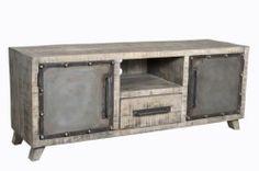682caa09fa760d Meuble de cuisine avec Evier intégré. Meuble TV vintage industriel metal    bois 2 portes   1 tiroir Meuble Vintage, Meuble