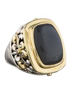 Men's Charles Krypell Chalcedony Scrooll Ring