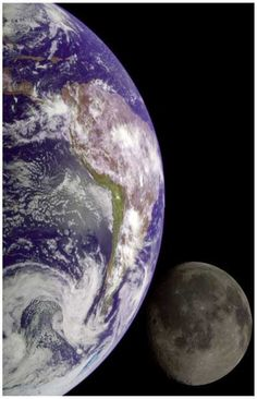 The Earth and Moon View from Space Poster 11x17 – BananaRoad