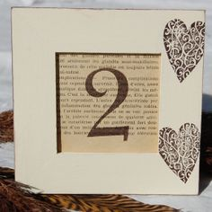 Table Numbers, but without the hearts