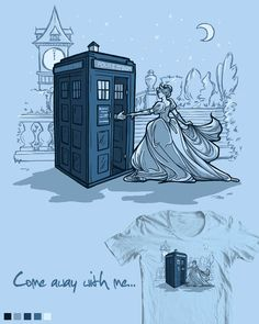 Doctor Who and Cinderella. I've seen this on Pinterest before. I didn't know the artist was Karen Hallion.