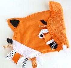 Woodland Fox Ribbon Tag Baby Blankie