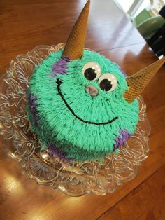 simple monsters inc birthday cake two - Google Search