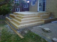 My biggest cedar deck to date. Picture frame border, hip stairs and planter boxes all made it a bit of challenge. It wasn't exactly easy but it was a good learning experience and the HO's were very...