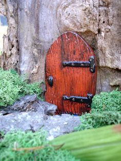Fairy garden door - History of the Turning Door. You will see this little door everywhere. This door signifies the Turning. When young Faes