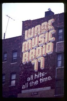 Cool 70s-esque Radio sign! If we were to make the sign look like with was made in the 70s (when the factory was opened) we could consider using type faces that were more representative of the time.