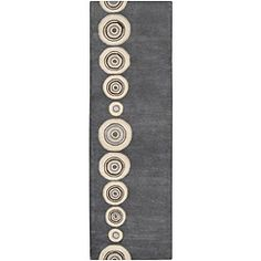@Overstock - A geometric design and cool tones adorn this hand-tufted wool rug. Brown, taupe, and grey hues highlight the plush pile of this area rug.http://www.overstock.com/Home-Garden/Hand-tufted-Dazed-Charcoal-Wool-Rug-26-x-8/5651354/product.html?CID=214117 $131.74