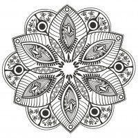 Display image coloring-page-mandala-Original-Flower-by-markovka