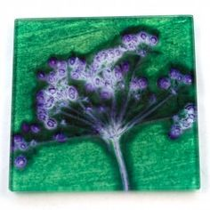 Gillian Arnold Green Joyous Spread Glass Coaster