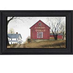 Billy Jacobs 'The Quilt Barn' Framed Wall Art   Overstock.com Shopping - The Best Prices on Framed Art