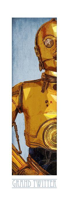 C3PO ! Retrouvez toute la Série POP CULTURE Limitées en 10 Exemplaires Numérotés et proposés sur support rigide au format 90cm x 35cm